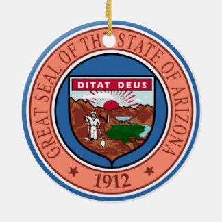 Arizona seal united states america flag symbol rep round ceramic ornament