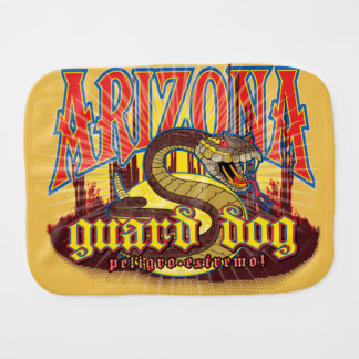 Arizona Snake on Guard Burp Cloths