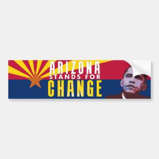 Arizona Stands for Change - Obama Bumper Sticker