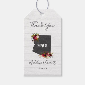 Arizona State Destination Rustic Wedding Thank You Gift Tags
