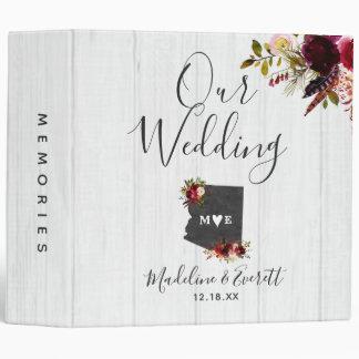 Arizona State Destination Wedding Photo Album Vinyl Binders