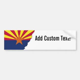 Arizona State Flag Bumper Sticker