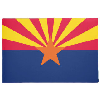 Arizona State Flag Design Doormat
