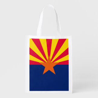 Arizona State Flag Design Reusable Grocery Bag