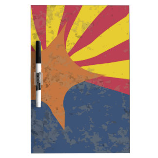 Arizona State Flag Grunge Dry Erase Board