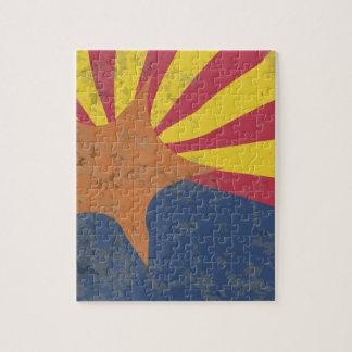 Arizona State Flag Grunge Puzzles