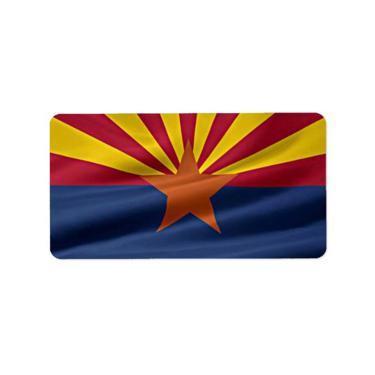 Arizona State Flag Label