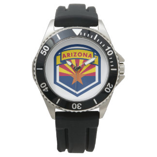 Arizona State Flag Shield Watch