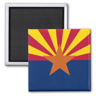 Arizona State Flag Square Magnet