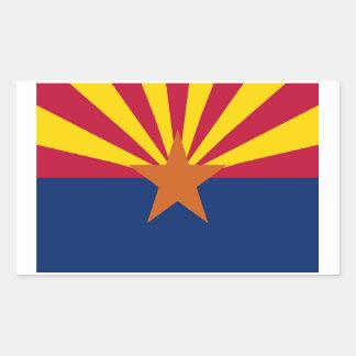 Arizona State Flag Sticker - 4 per sheet