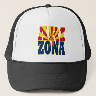 Arizona state flag text trucker hat