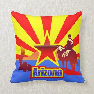 Arizona State Flag Vintage Drawing Throw Pillow