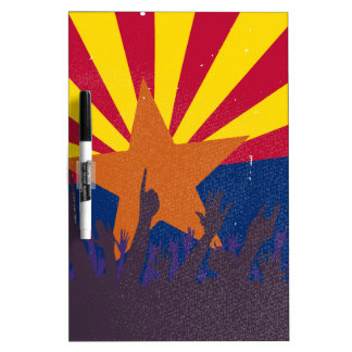 Arizona State Flag with Audience Dry-Erase Board