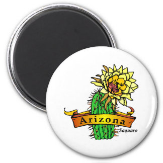 Arizona State Flower - Saguaro Refrigerator Magnet