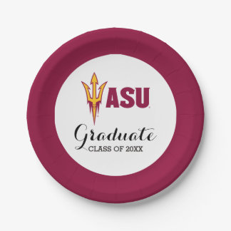 Arizona State Fork 7 Inch Paper Plate