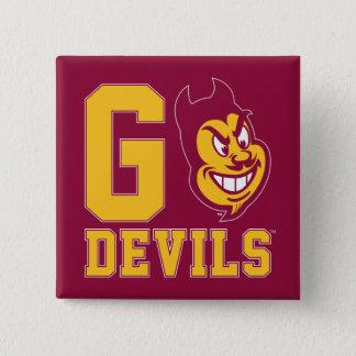 Arizona State Go Devils 2 Inch Square Button