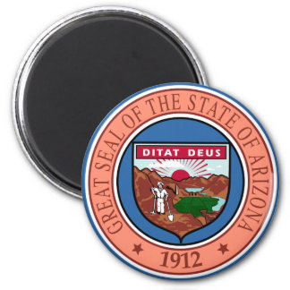 Arizona State Seal 2 Inch Round Magnet