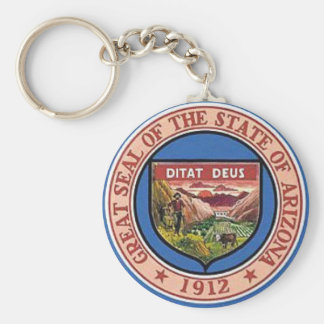 Arizona State Seal Keychain