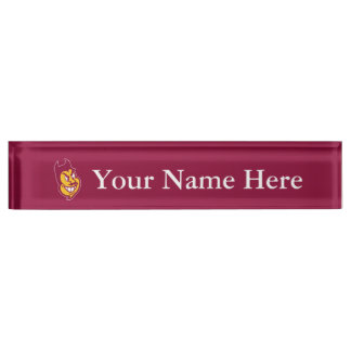 Arizona State Sparky Name Plates