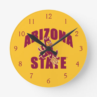 Arizona State Sun Devil Round Clock