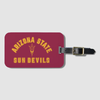 Arizona State   Sun Devils - Retro Luggage Tag