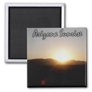 Arizona Sunrise Square Magnet