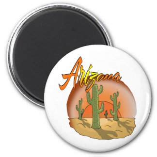 ARIZONA Sunset Cactus Refrigerator Magnets
