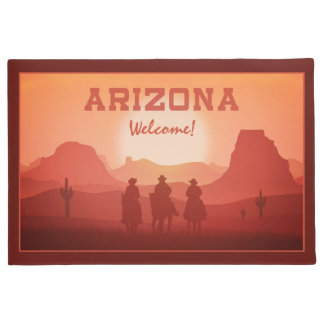 Arizona Sunset custom door mats
