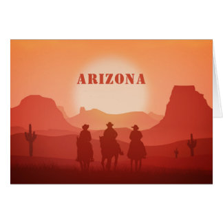 Arizona Sunset custom greeting card