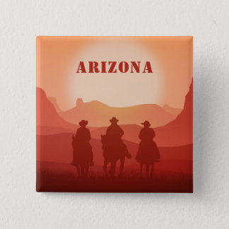 Arizona Sunset custom magnet 2 Inch Square Button