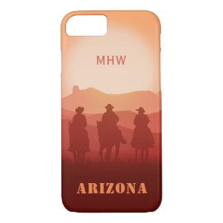 Arizona Sunset custom monogram phone cases