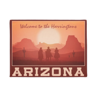 Arizona Sunset custom name door mats