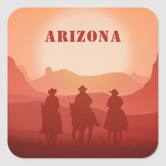 Arizona Sunset custom text stickers