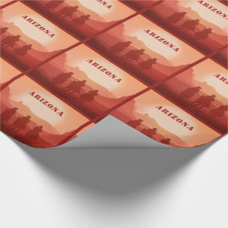 Arizona Sunset custom text wrapping paper