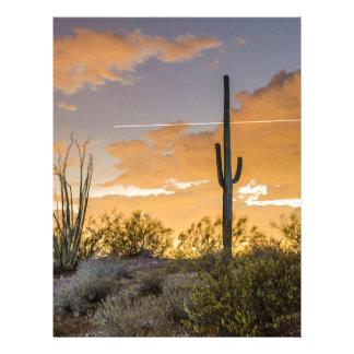 Arizona Sunset Customized Letterhead