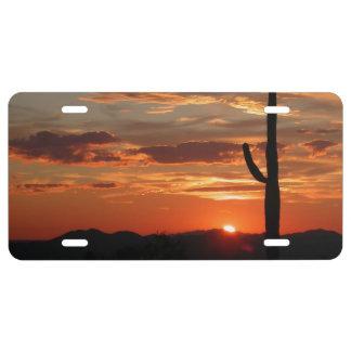 Arizona Sunset License Plate