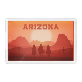 Arizona Sunset serving trays