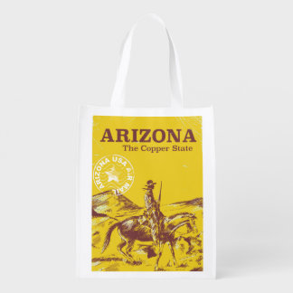 Arizona the copper state vintage travel poster reusable grocery bag