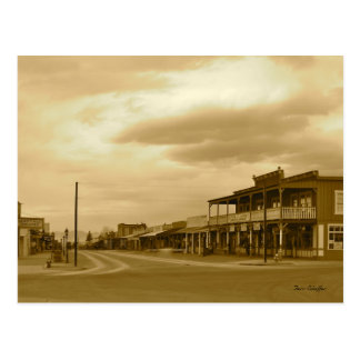 Arizona Tombstone Main Street Sepia Photo Postcard
