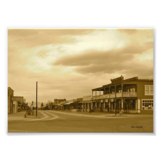 Arizona Tombstone Main Street Sepia Photo Print