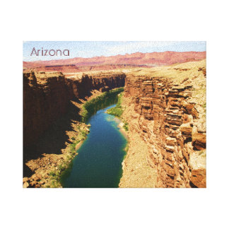 Arizona Travel Poster Style Landscape Photograph Canvas Print