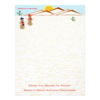 Arizona Tumbleweed Snowman Christmas Letterhead