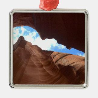 ARIZONA - Upper Antelope Canyon B - Red Rock Metal Ornament