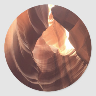 ARIZONA - Upper Antelope Canyon C - Red Rock Classic Round Sticker