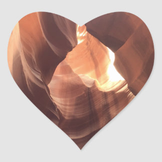 ARIZONA - Upper Antelope Canyon C - Red Rock Heart Sticker