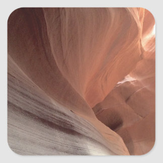 ARIZONA - Upper Antelope Canyon E - Red Rock Square Sticker