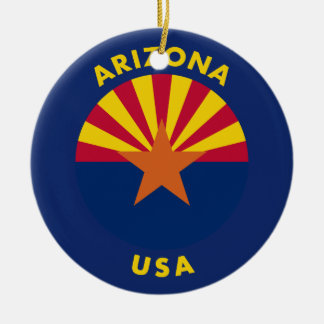 Arizona USA Ceramic Ornament