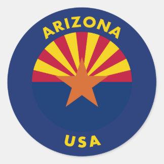 Arizona USA Classic Round Sticker