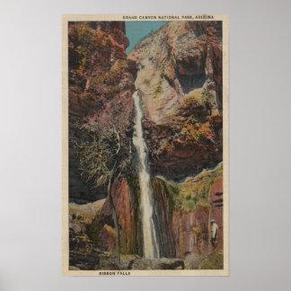 Arizona - View of Ribbon Falls in Grand Canyon Poster