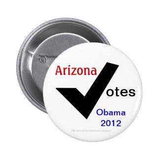 Arizona Votes Obama 2012 2 Inch Round Button
